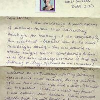 1998-9 fanmail from Bexhill 1