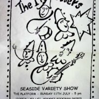 1999-05-11 Poster for show at The Platform, Morecambe (as part of the One Man Band Shebang).1