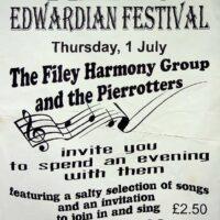 1999-07-01 Filey Edwardian Festival poster 1
