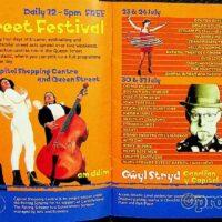 1999-07-08 Cardiff International Street Festival brochure 1a