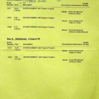 1999-08-03 Sidmouth International Folk festival performances (NB Poppets Puppets)