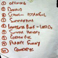 1999 Bexhill setlist 3