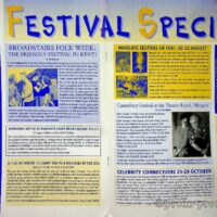 1999 Community Arts Newsletter of Thanet Council - Margate Medley 1a