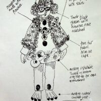 1999 costume design by Nomi Parker for The Mayor of Planet Funny