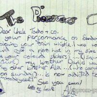 1999 fanmail from Bexhill 1