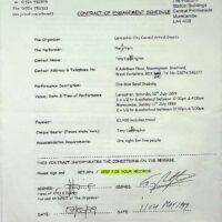 1999.05.11 One Man Band Shebang contract
