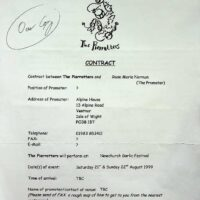 1999.08 Garlic Festival, Newchurch, Isle of Wight contract 1