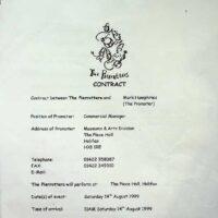 1999.08.14 Halifax Piece Hall contract 1