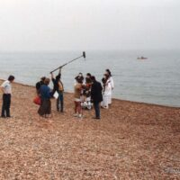 1st television shoot - Brighton beach for CBTV 1983