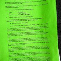 2001 Cardiff Festival contract