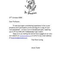 2001 professor Fiddlesticks