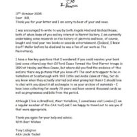 Letter to Bill Pertwee 2005-10-17