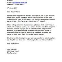 Letter to Roger Thorne 2007-03-04