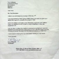 1998-08-19 Letter from Gerard Brown