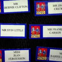 2005 Stage door name tags for National Theatre of Variety