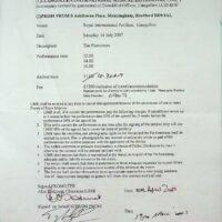 2007-07-14 Llangollen International Eistedfodd contract
