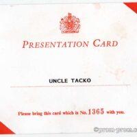 Buck House Presentation Card