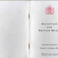 Buckingham Palace guest list 2005-03-01