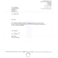 CYC matched funding letter