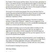 Filey Festival letter 2004-09-10