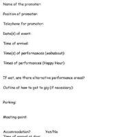 Gig sheet 1