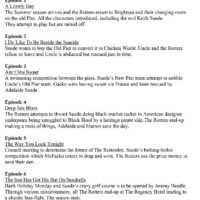 List of Episodes 25-3-2000
