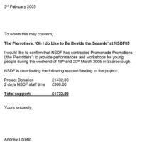 NSDF Partnership funding 3-2-2005