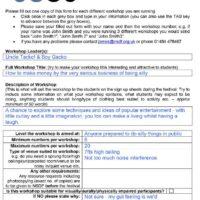NSDF WORKSHOP DETAILS
