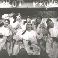 Shameless Shabbacko with Pierrot-Promenaders-Isle-of-Wight-1991