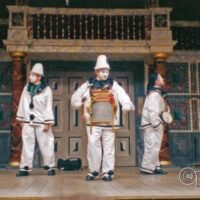 Pierrotters On Stage at the Globe Theatre