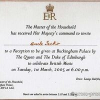 Royal invitation, 2005