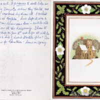 Christmas card thank you from Elizabeth Taylor, Lomas House, Worthing